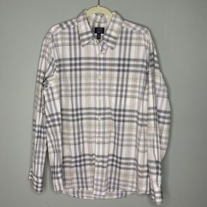 JOE Joseph Abboud Mens Plaid Button Down Shirt XL